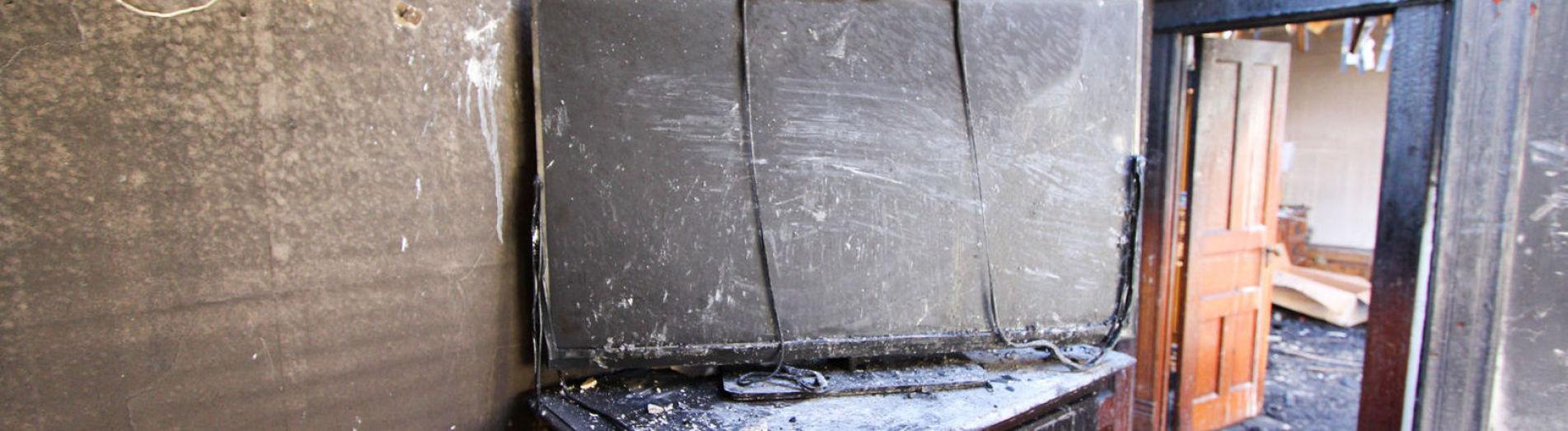 ausgebrannte Tür